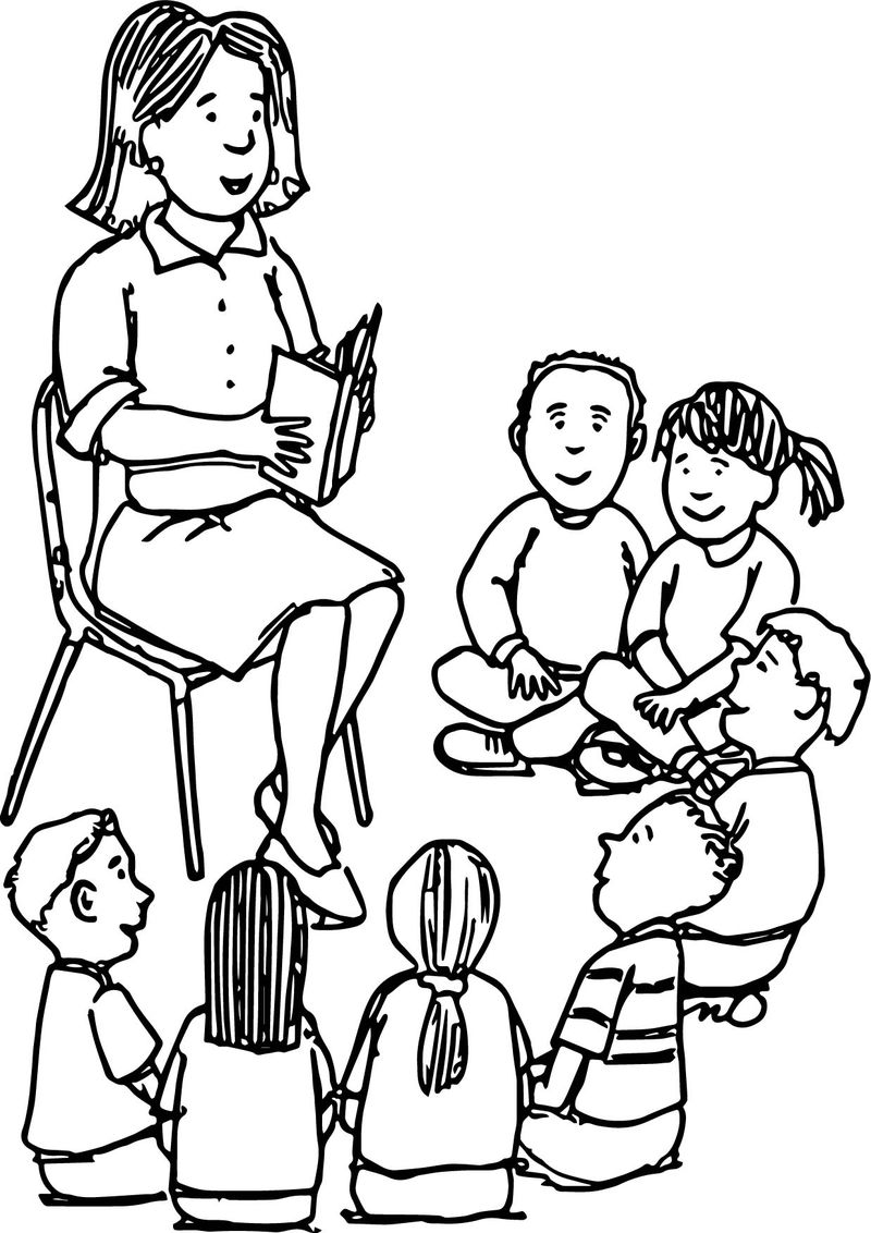 Learning Teacher Coloring Pages