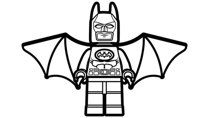 Lego Batman Wings Coloring Page
