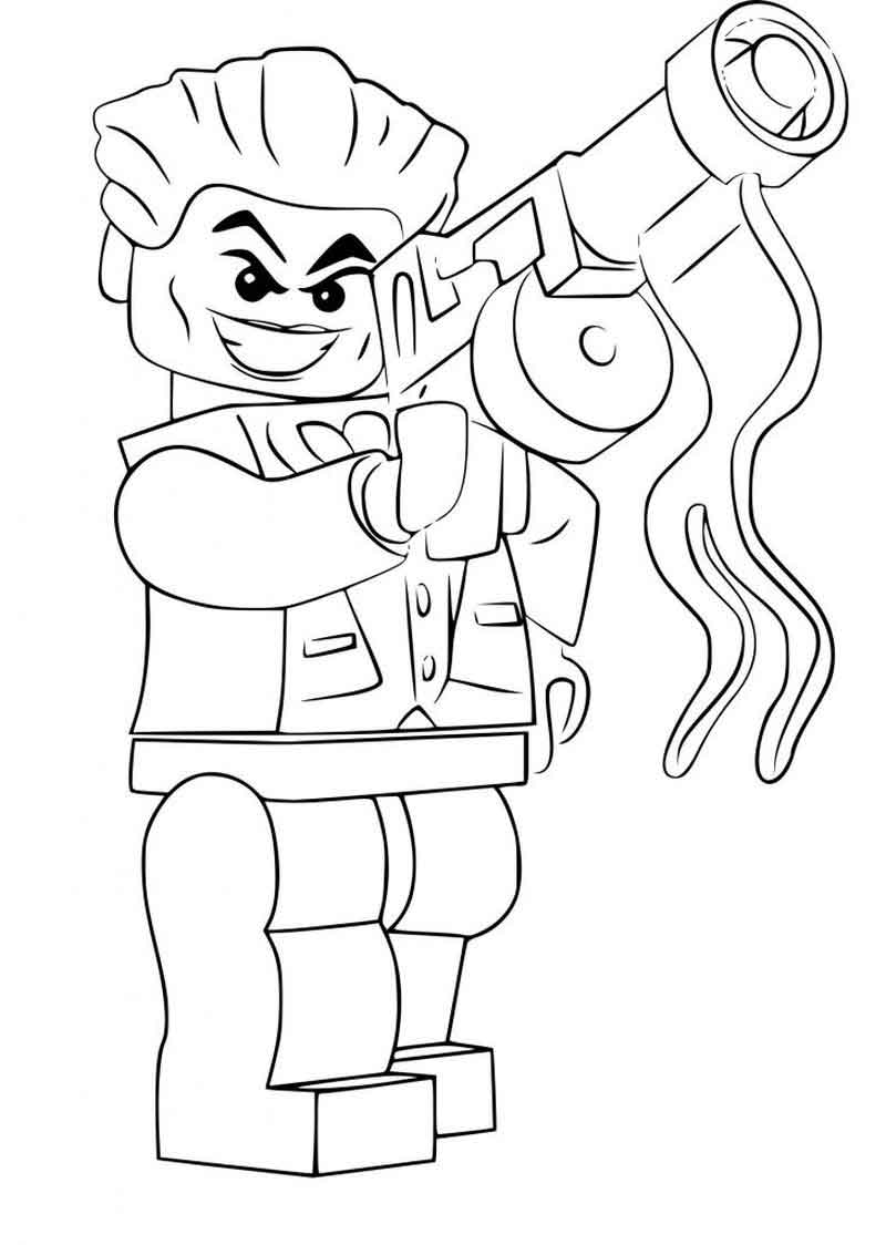 Lego Joker Coloring Pages