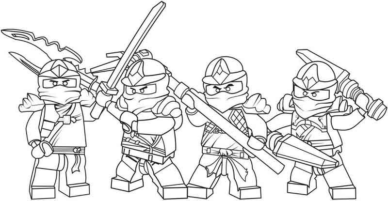 Lego Ninjago Free Lego Coloring Pages
