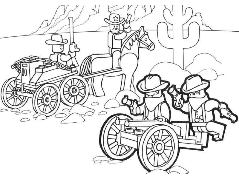 Lego Wild West Lego Coloring Pages