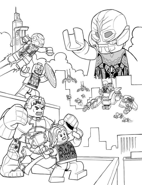Lego Avenger Heroes Coloring Pages