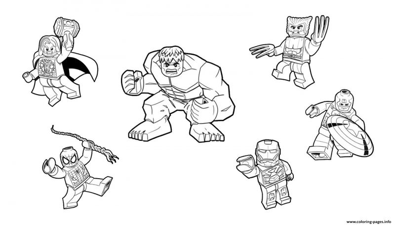 Lego Avengers Characters Coloring Pages