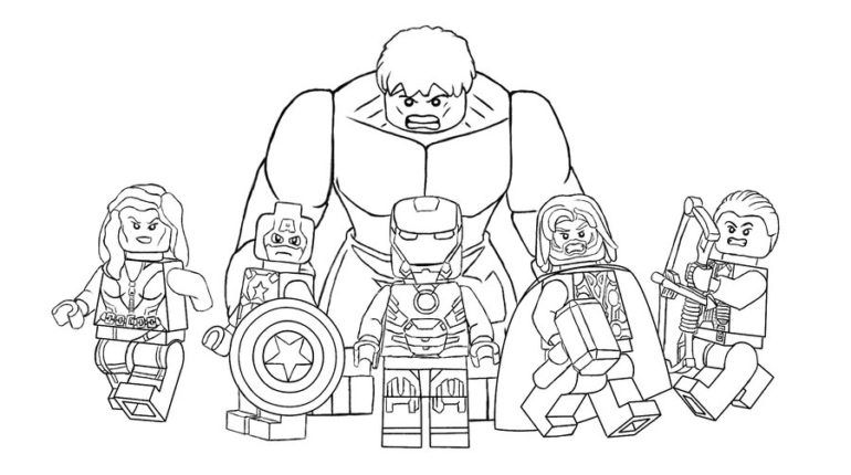 Lego Avengers Coloring Pages