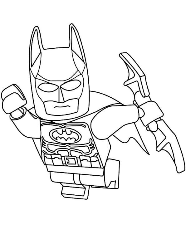 Lego Batman Coloring Pages Free