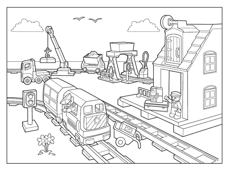 Lego City Coloring Pages 001