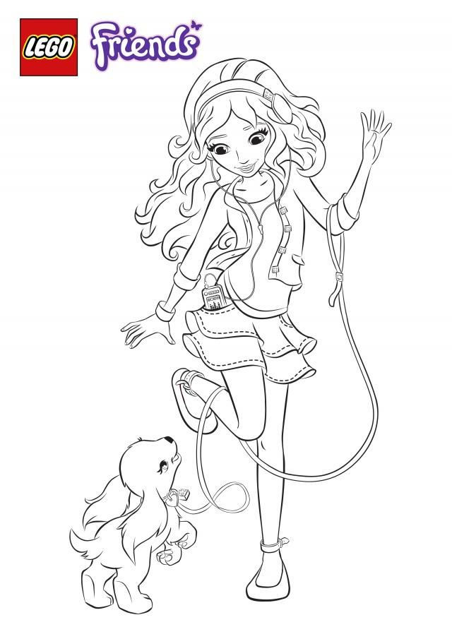 Lego Friends Girl Coloring Page