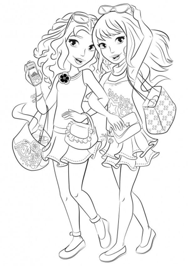 Lego Friends Shopping Coloring Page