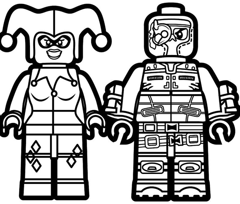 Lego harley quinn coloring page 001