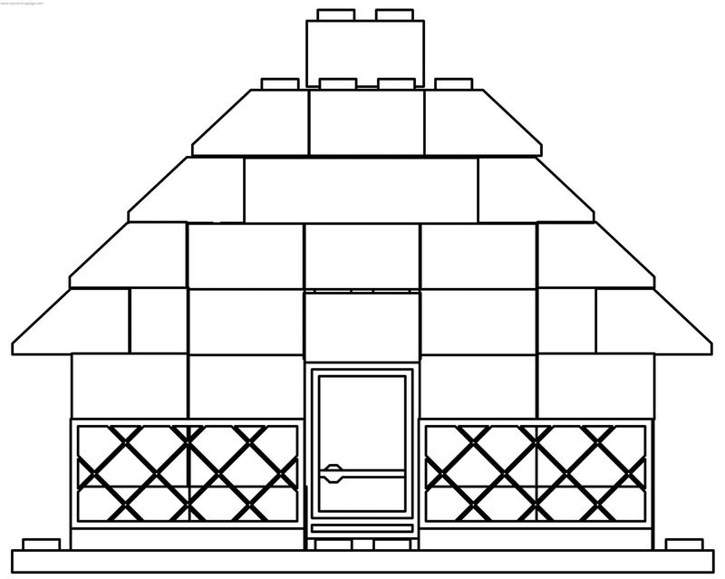 Lego House Coloring Page
