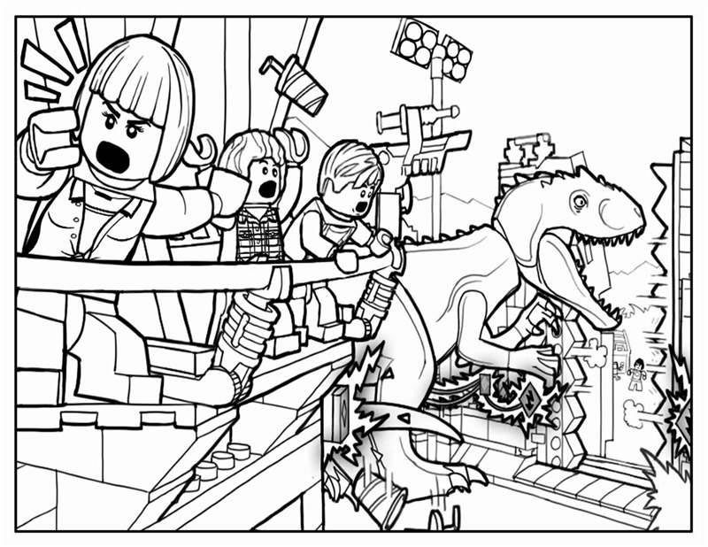 Lego Jurassic World Movie Coloring Page