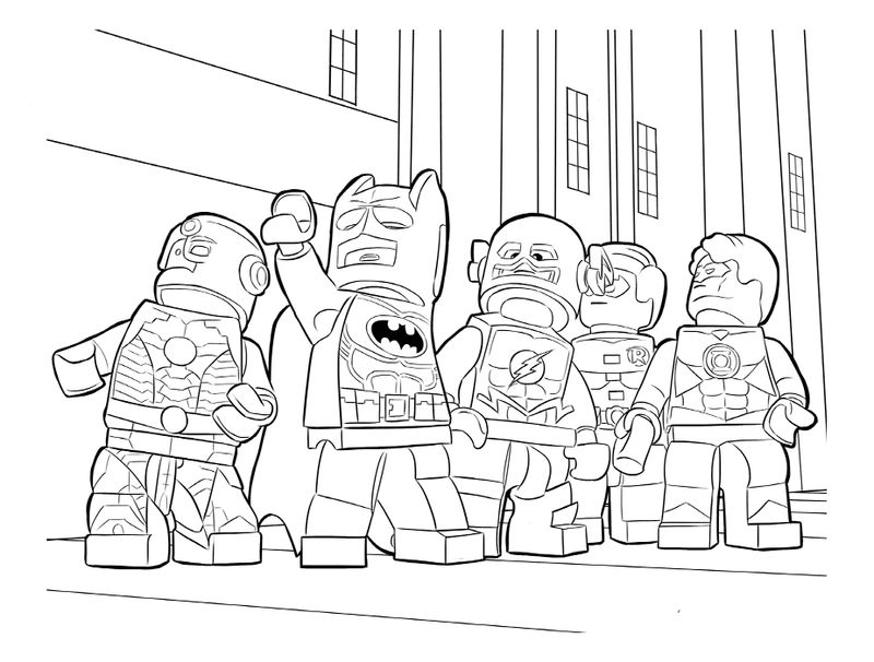 Lego Justice League Coloring Pages 001