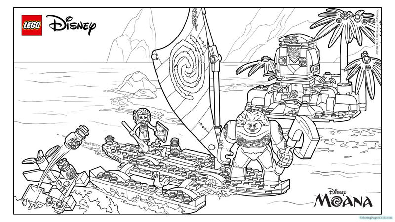 Lego Moana Coloring Pages