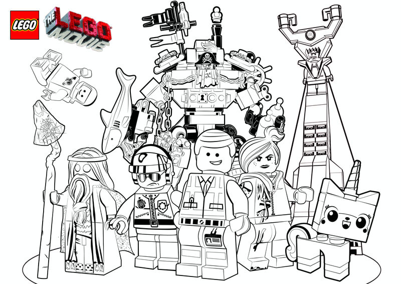 Lego Movie Coloring Pages 001