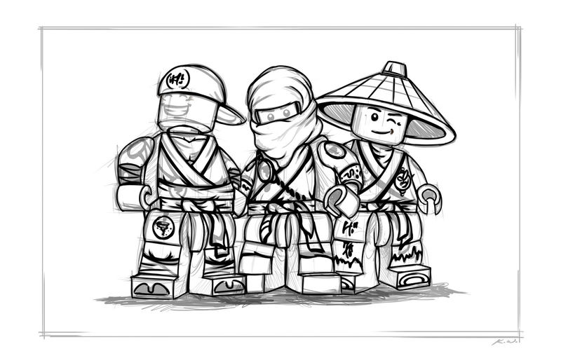 Lego Ninjago Coloring Pages 1