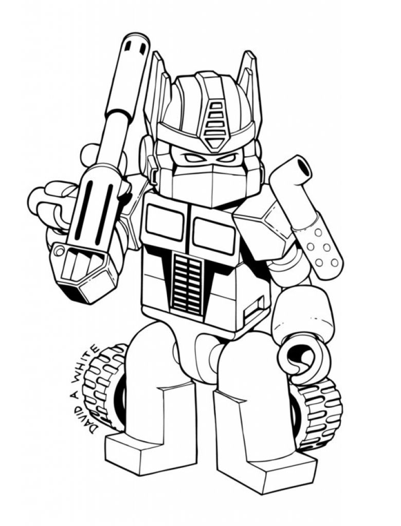 Lego Optimus Prime Coloring Pages
