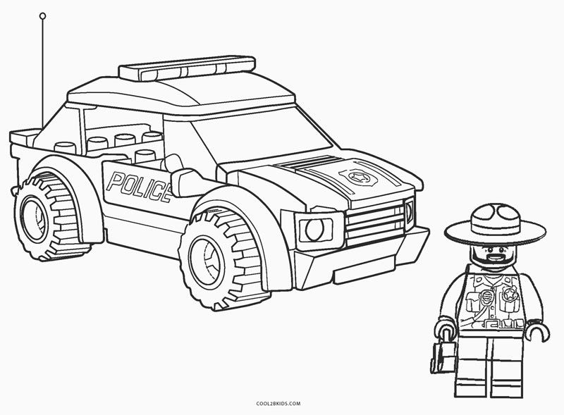Lego Police Sheriff Coloring Pages