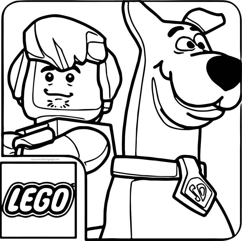 Lego Scooby Doo Haunted Coloring Page