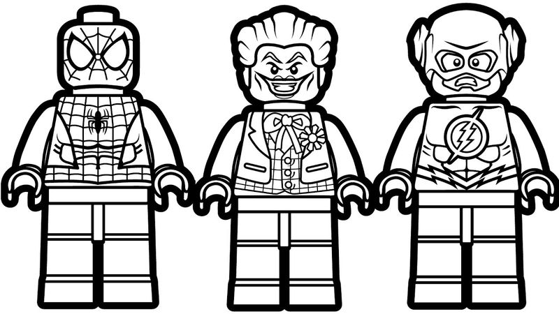 Lego Spiderman Joker Flash Coloring Pages