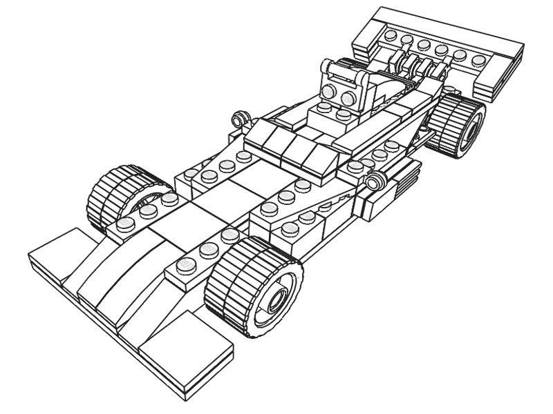 Lego Sports Car Coloring Page 001