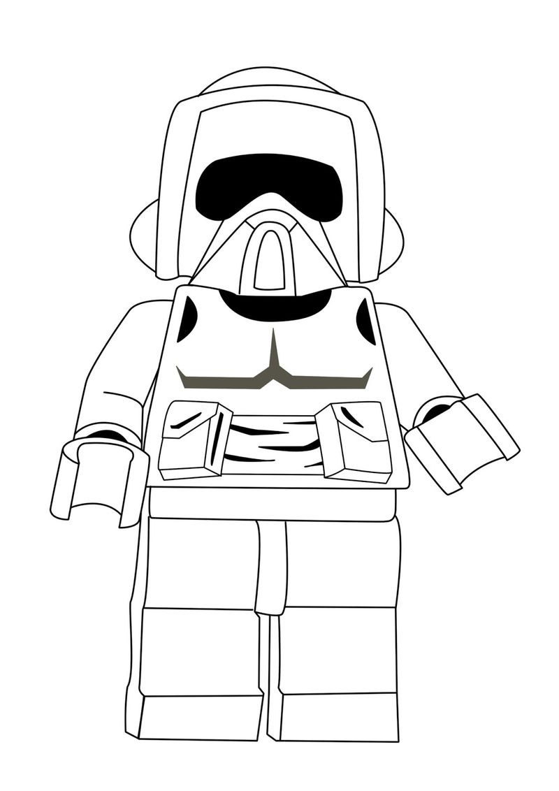 Lego Star Wars Coloring Pages Free Printable 001