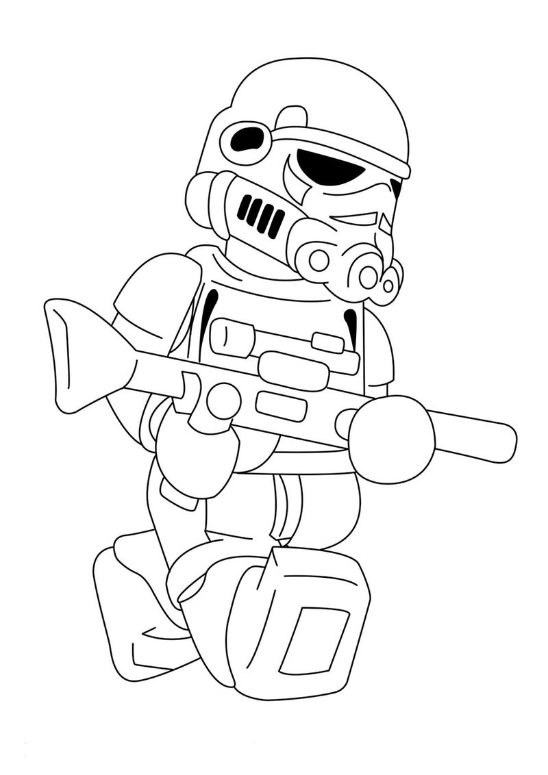 Lego Storm Trooper Star Wars Coloring Pages