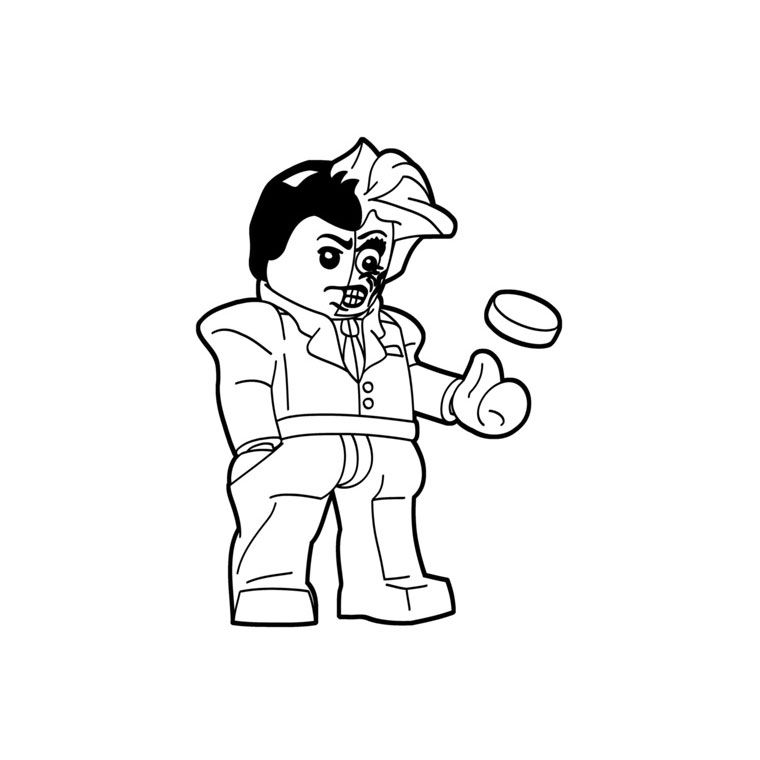 Lego Two Face Coloring Page 001