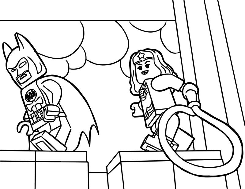 Lego Wonder Woman Coloring Pages Free Coloring Pages