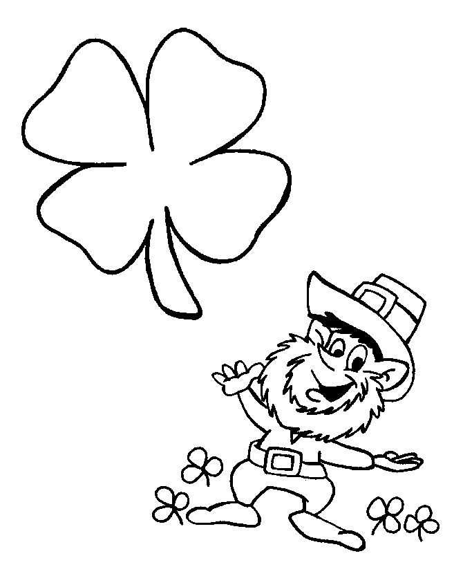 Lerprechaun St Patricks Day Coloring Pages