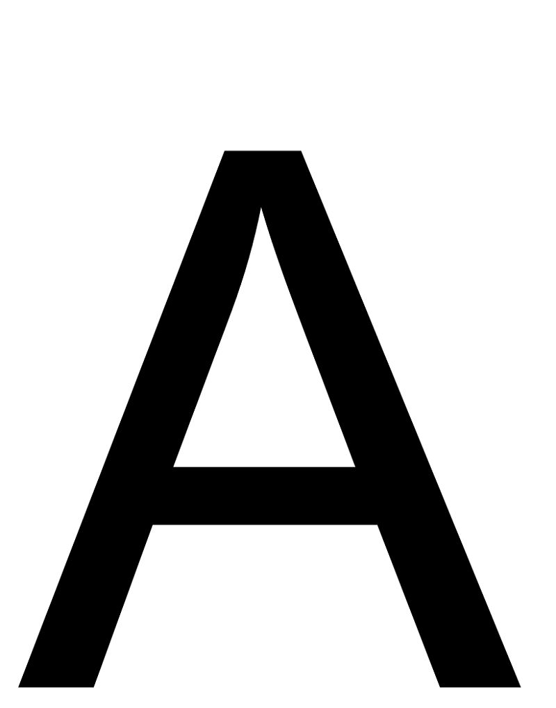 Letter A Photo Printable 001