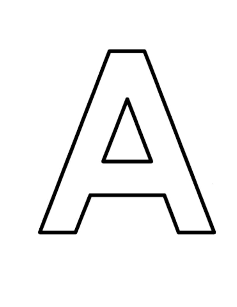 Letter A Printable Coloring