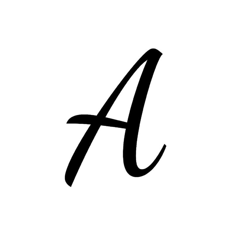 Letter A Printable Style