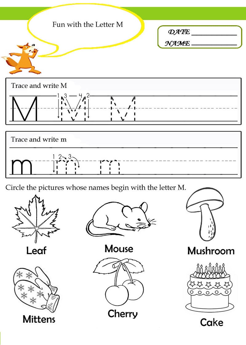 Letter M Worksheets Fun