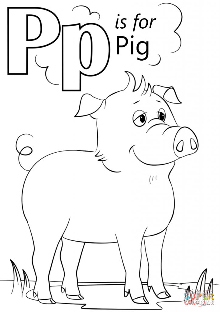 Letter P Kindergarten Coloring Pages
