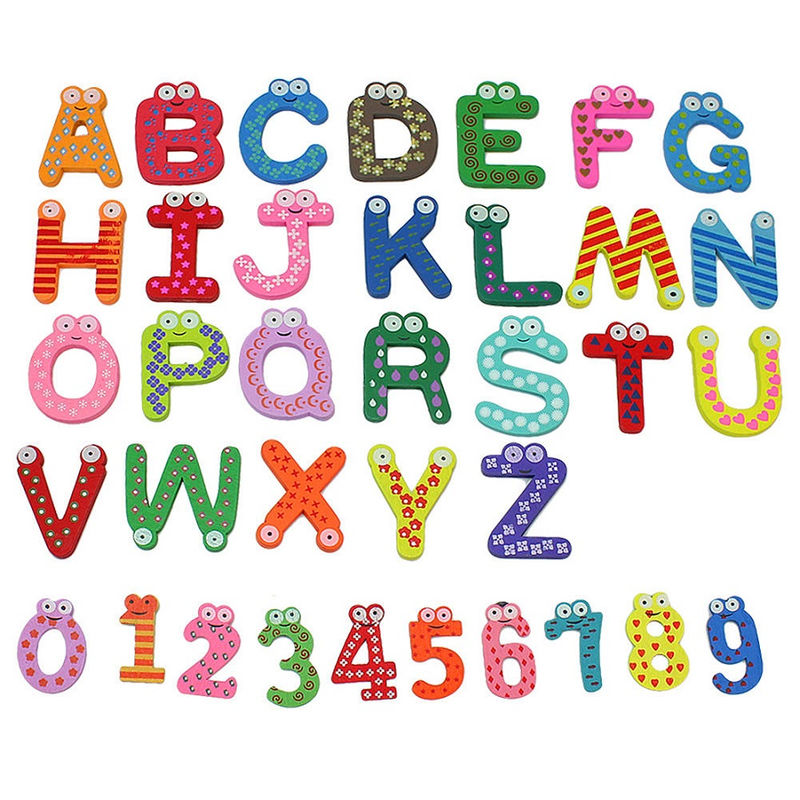 Letters And Numbers For Kids Colorful