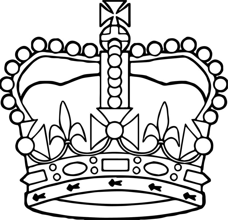 Liftarn Crown Of Saint Edwardall Saint Day Coloring Page