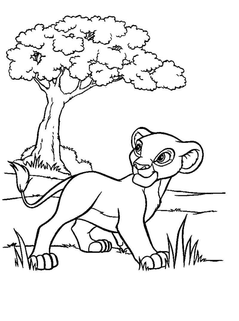 Lion King Coloring Pages Printable