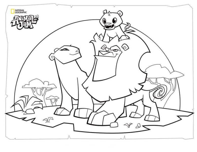 Lion Family Animal Jam Coloring Pages