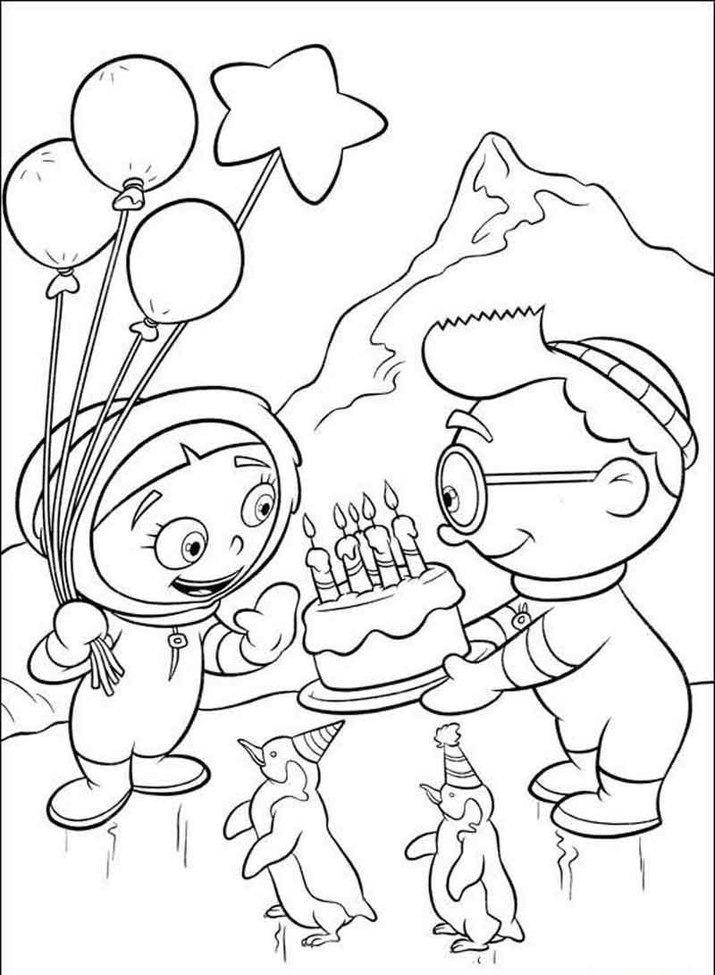 Little Einsteins Coloring Pages Arctic Birthday
