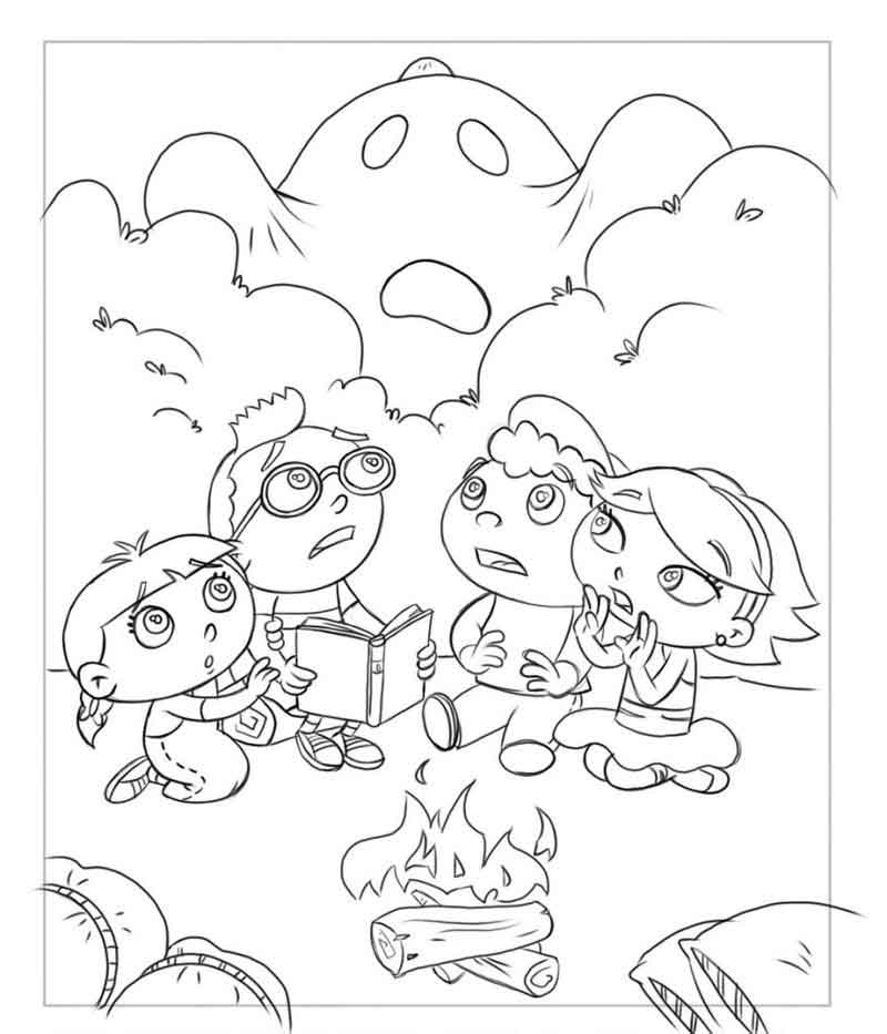 Little Einsteins Coloring Pages Ghost Story