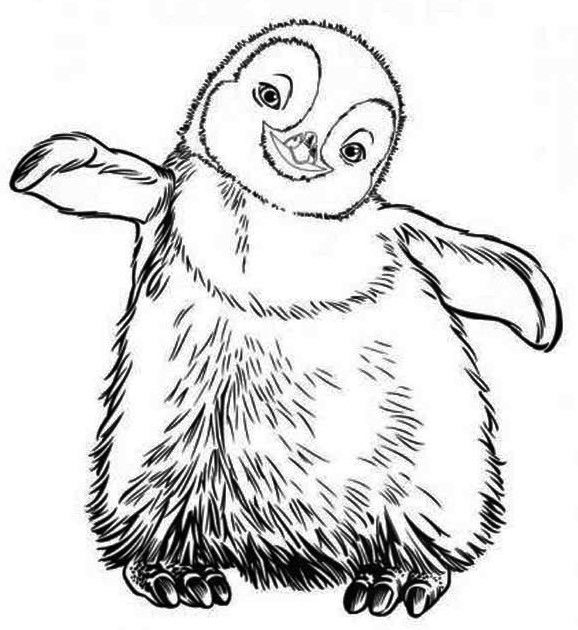 Little Erik From Happy Feet Coloring Pages Printable Free