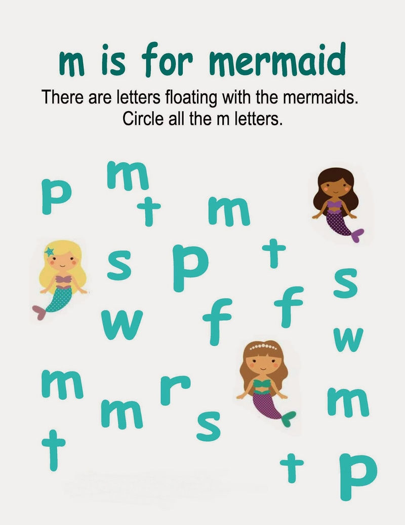 Little Mermaid Activities Circling