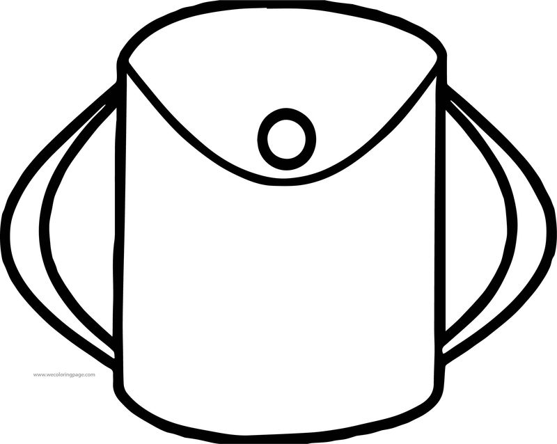 Little School Bag Coloring Page