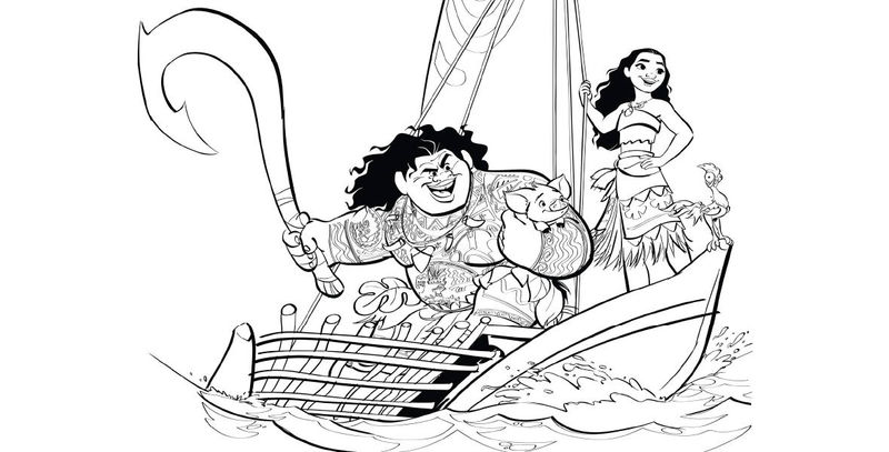Looking For Moana And Maui Coloring Pages
