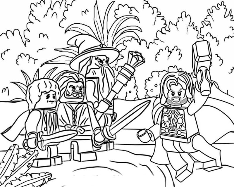 Lord Of The Rings Coloring Pages Lego