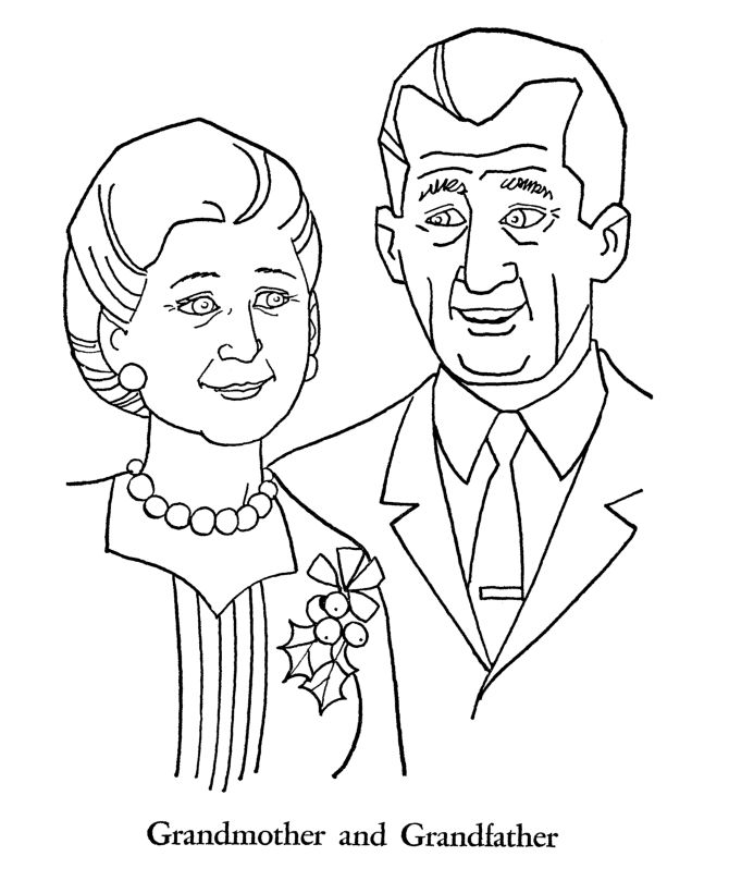 Love My Grandparents Day Coloring Pages 1
