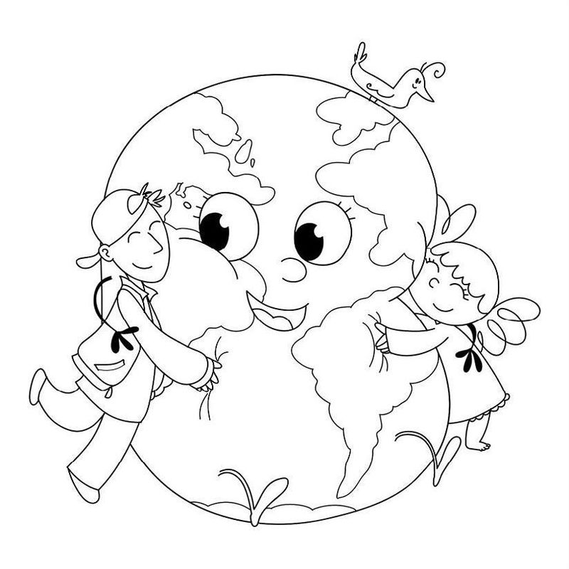 Love Planet Earth Coloring Page