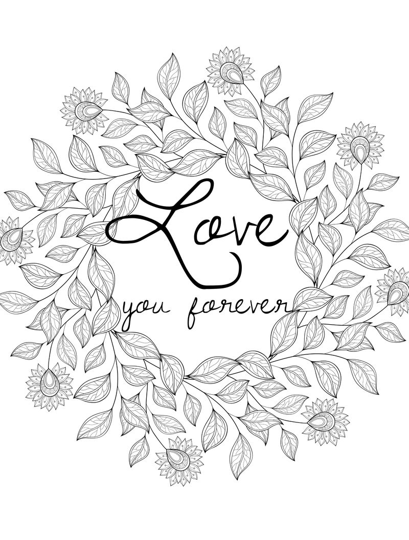 Love valentines day coloring pages for adults