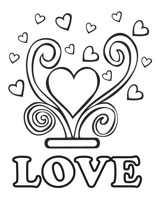 Love Wedding Coloring Pages 001