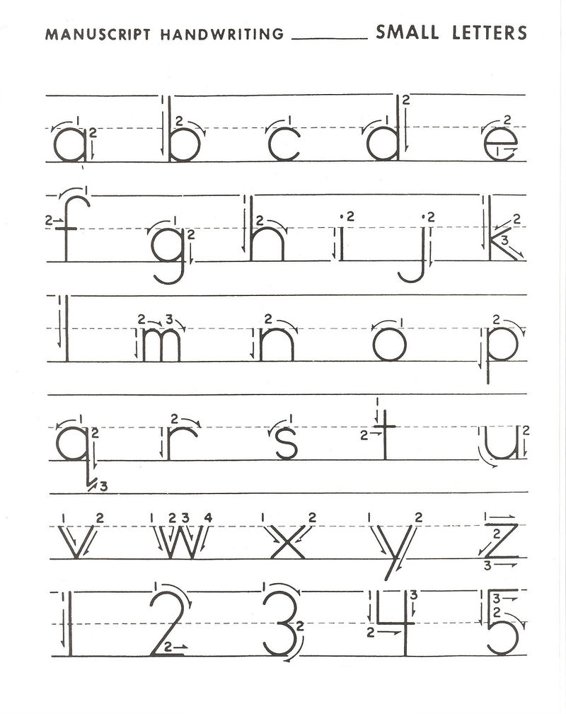 Lower Case Alphabet Worksheets Practice 1